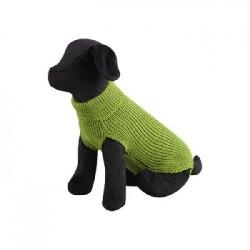 Jersey Lana Verde Basic para perros
