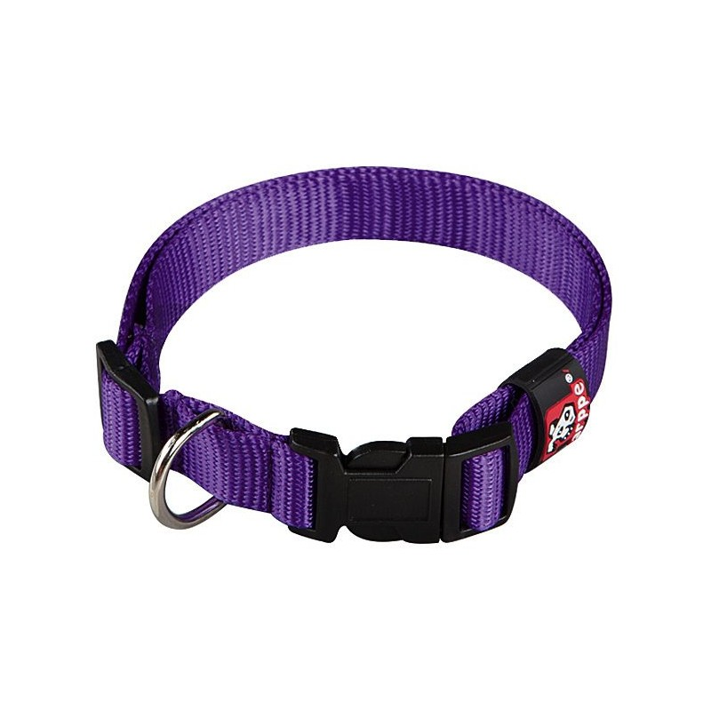 Collar nylon ajustable para perros p rpura vanypets for Nylon para estanques