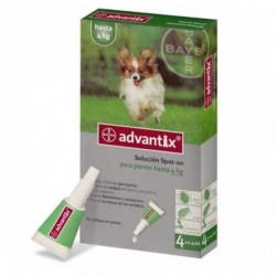 Pipetas Advantix perros de 0 a 4 kg