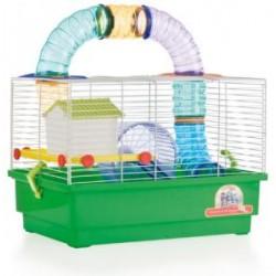 Jaula para Hamsters 2 Piso con Tubos