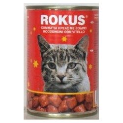 Latas Rokus sabor ternera para gatos