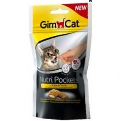 Snack Nutri Pocket para gatos Queso y Taurina