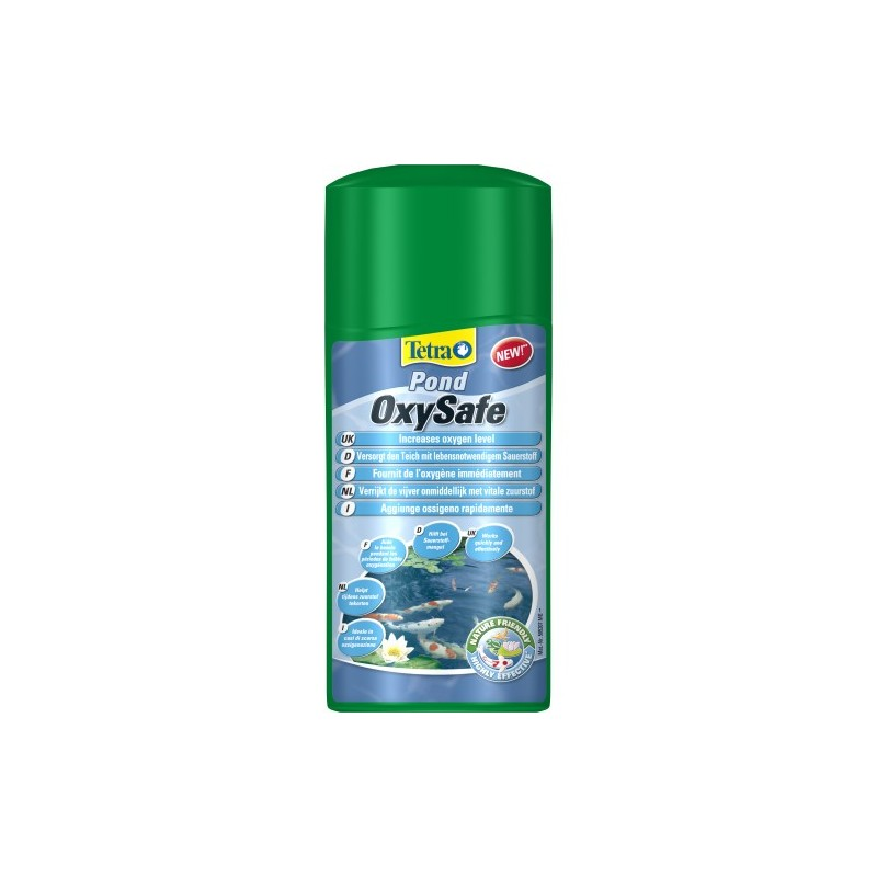 Tetra pond oxysafe aumento de oxigeno for Estanque oxigeno