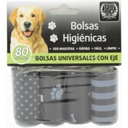 Pack 4 rollos bolsas higiénicas con eje San Dimas