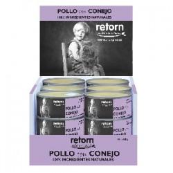 Retorn Pollo con Conejo (Pack) comida natural para gatos