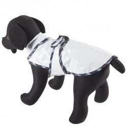 Impermeable blanco para perros