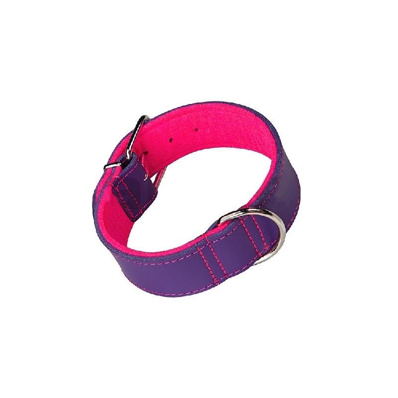 4a0f574273a2 Collar de cuero con pespunte para perros. Loading zoom