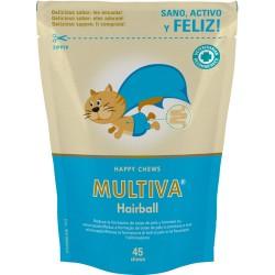 Suplemento vitamínico Multiva Hairball para gatos