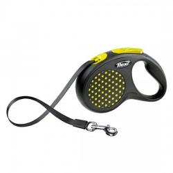 Correa Flexi design Amarilla para pasear