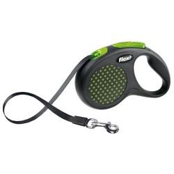 Correa Flexi design Verde para pasear