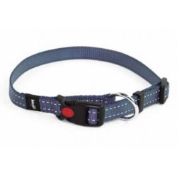 Collar Nylon Reflectante Azul