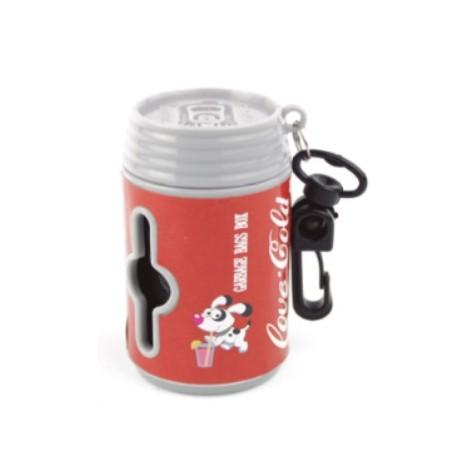 Porta bolsas en forma de lata refresco