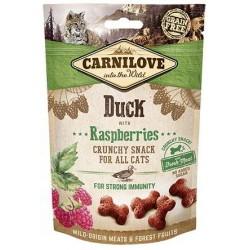 Snack Carnilove Crunchy pato frambuesa gato