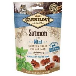 Snack Carnilove Crunchy salmón y menta gato