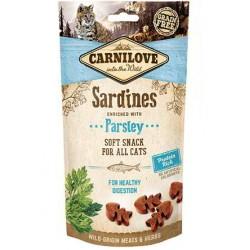 Snack Carnilove Semihúmedo Sardinas con Perejil gato