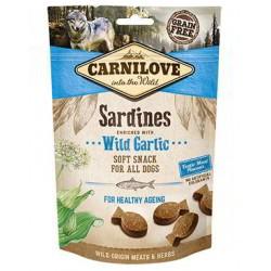 Snack Carnilove Semihúmedo Sardinas con Ajo de oso perros