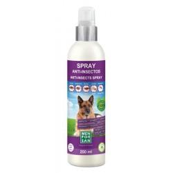 Spray anti-insectos para perros con margosa, geraniol y lavandino menforsan