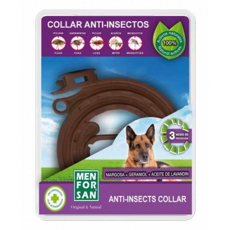 Collar anti-insectos para perros con margosa, geraniol y lavandino menforsan