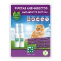 Pipeta anti-insectos gatos con margosa, geraniol y lavandino menforsan