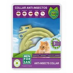 Collar anti-insectos para gatos con margosa, geraniol y lavandino menforsan