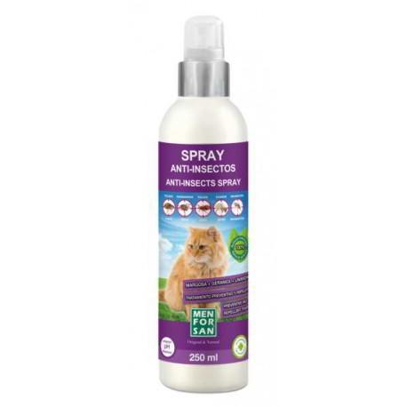 Spray anti-insectos para gatos con margosa, geraniol y lavandino menforsan