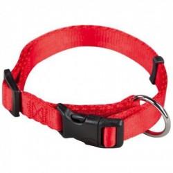 Collar Nylon Ajustable Rojo para perros