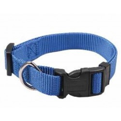 Collar Nylon Ajustable Azul para perros