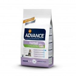 Advance Hairball Pavo y Arroz gato