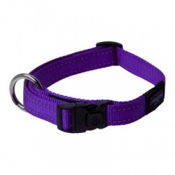 Collar Nylon Reflectante Nitelife 20 a 32 cm